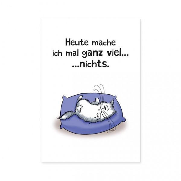 """Postkarten Large """"Catzz - Ganz viel nichts"""""""