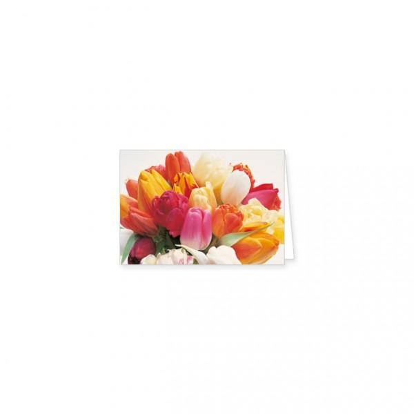 "Mini-Doppelkarte ""Tulpen"""