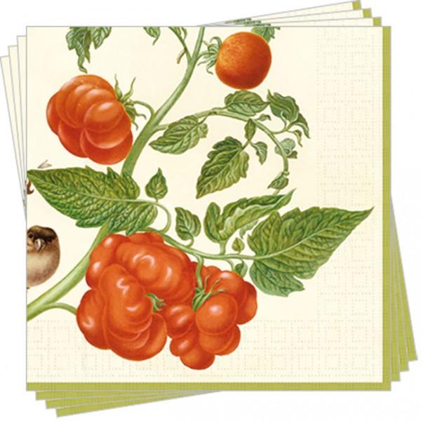 """Servietten """"Tomaten und Buchfink"""""""