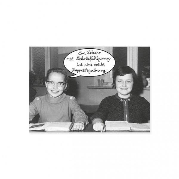 """Postkarte """"Doppelbegabung"""""""