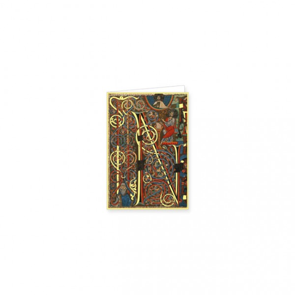 "Mini-Doppelkarten Gold ""Bibel aus Arnstein"""