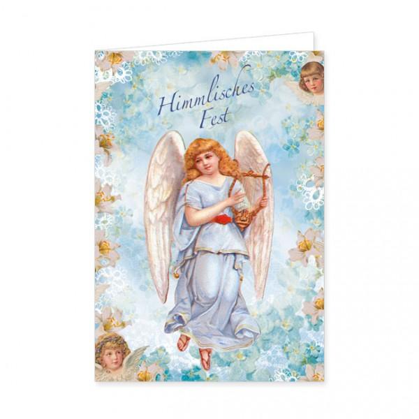 "Doppelkarte Lack X-Mas ""Himmlisches Fest"""