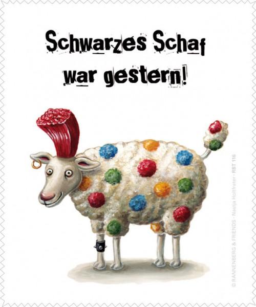 Brillenputztuch 'Schwarzes Schaf'