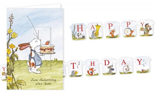 """Türchenkarte """"Tilda – Happy Birthday"""""""