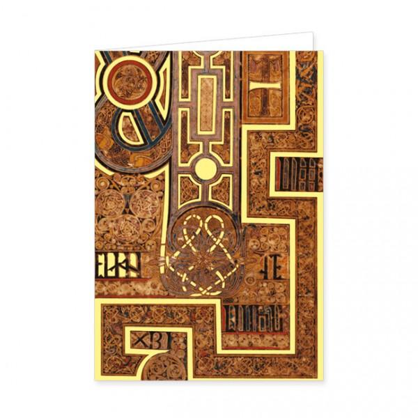 "Doppelkarte Gold ""Book of Kells"""