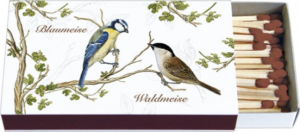 Zündholz-Schachteln 'Wald- und Wiesenvögel'