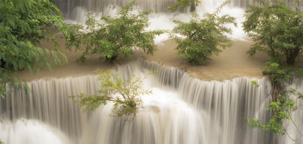 "XXL-Postkarte ""Huai Mae Khamin Wasserfall"""