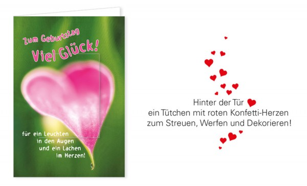 "Türchenkarte ""Herzblatt"""