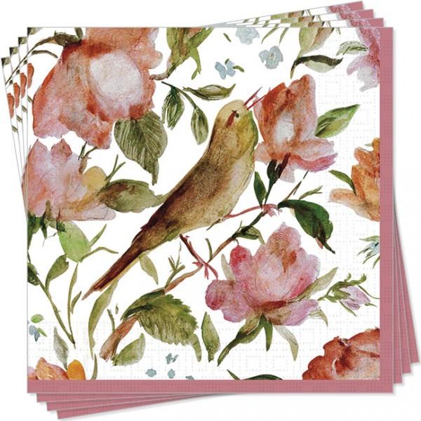 """Servietten """"Persische Rosen""""und Nachtigall"""