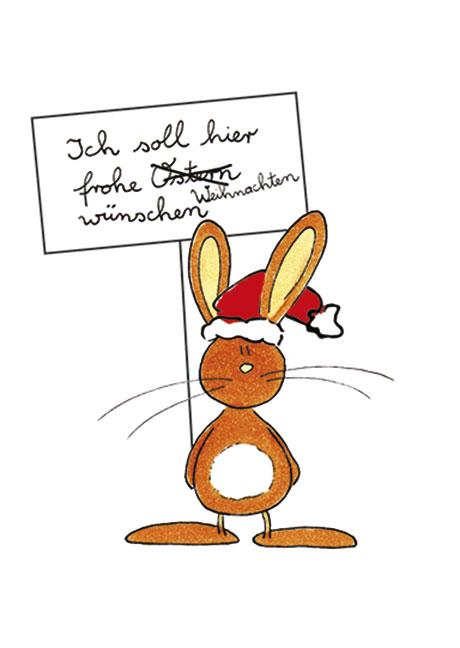 postkarte x mas ich soll hier frohe weihnachten w nschen. Black Bedroom Furniture Sets. Home Design Ideas