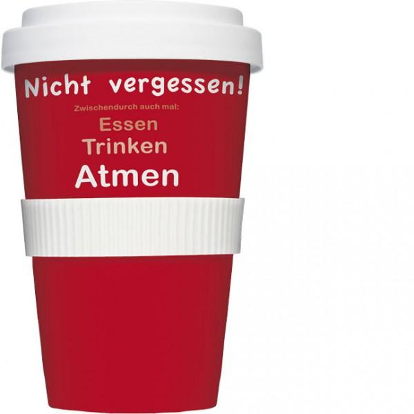 Coffee to go Becher 'Nicht vergessen'