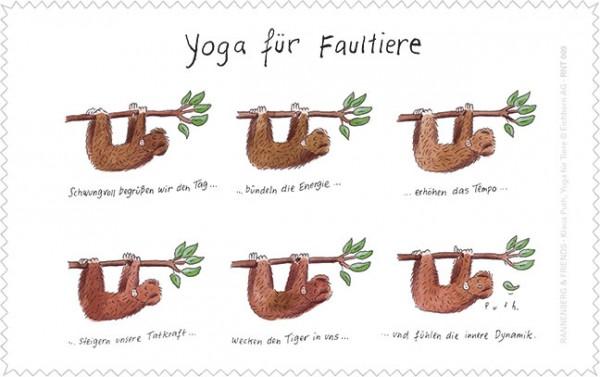 Netbooktuch 'Yoga für Faultiere'