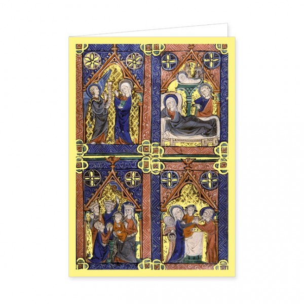 "Doppelkarte Gold ""Die Heiligen Drei Könige"""