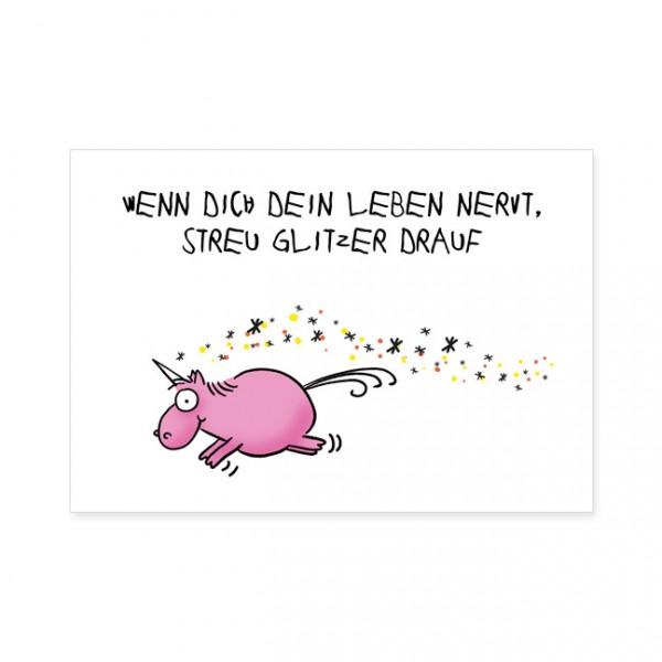 """Postkarten Large """"Streu Glitzern drauf"""""""