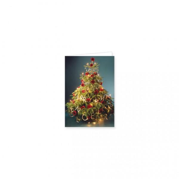 """Mini-Doppelkarte X-Mas """"Weihnachtsbaum in Gold"""""""