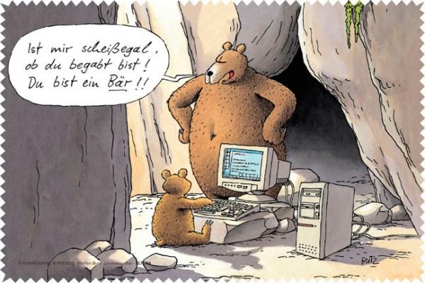 Laptoptuch 'Du bist ein Bär!'