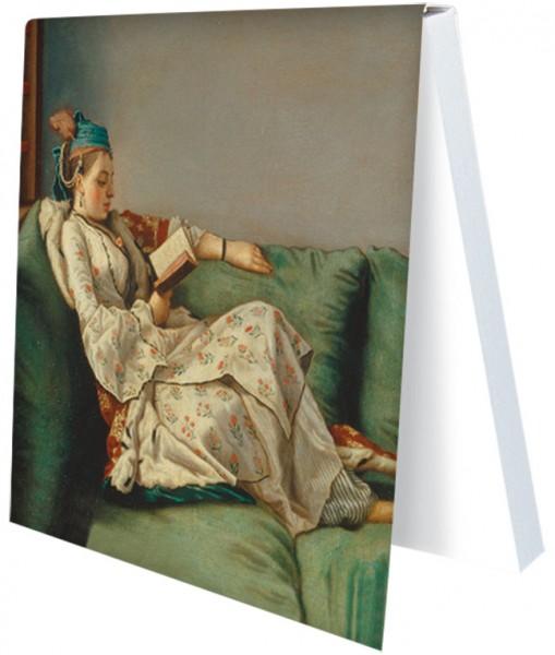 """Klebezettel """"Bildnis der Marie Adelaide von Frankreich"""""""