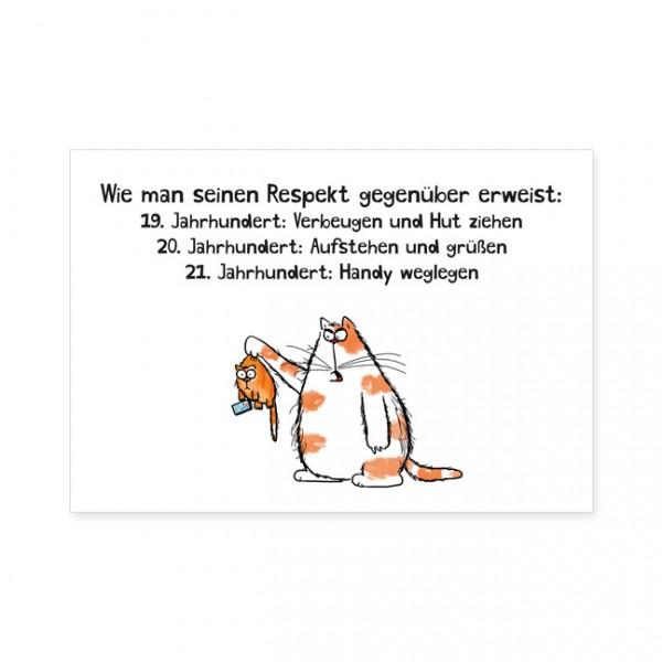 "Postkarten Large ""Catzz - Respekt erweisen"""