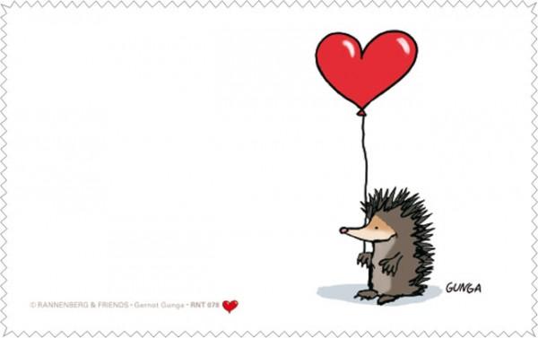 Netbooktuch 'Igel mit Herz' von Gernot Gunga