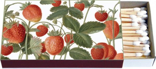Zündholz-Schachtel 'Erdbeeren aus dem Nassau Florilegium'