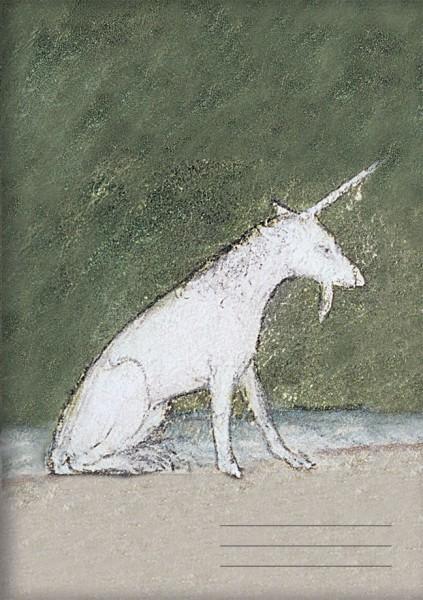 Kladden A5 'Einhorn aus dem Bestiaium' aus Le Livre des Proprietes des Choses