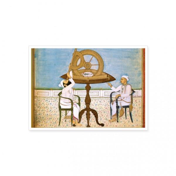 """Postkarte Gold """"Himmelsforscher"""""""