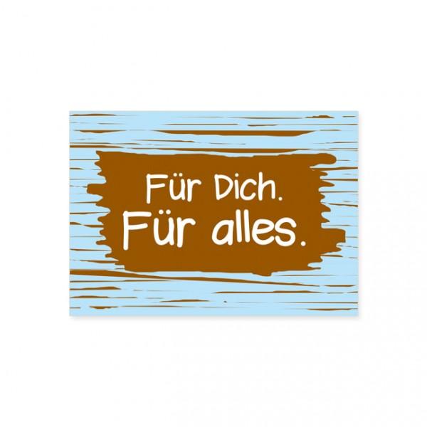 """Postkarte """"Für dich - Für alles"""""""