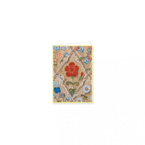 """Mini-Doppelkarten Gold """"Breviar der Isabella von Kastilien"""""""