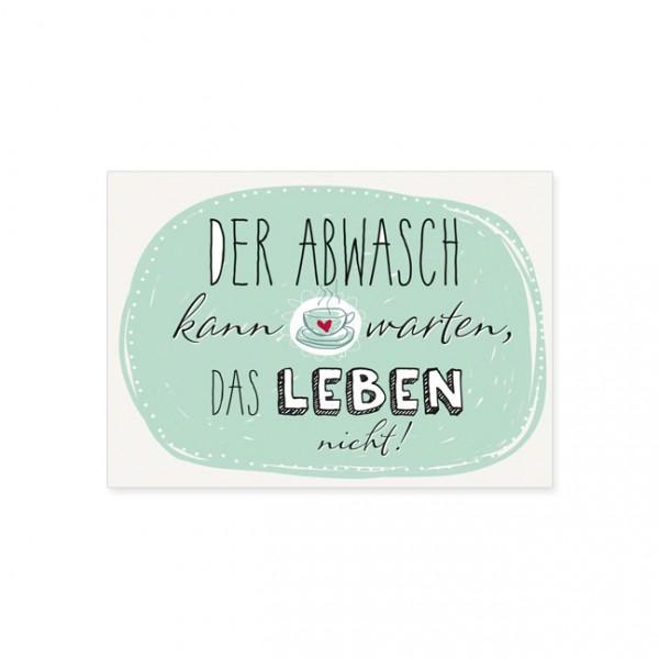 """Postkarte """"Der Abwasch"""""""