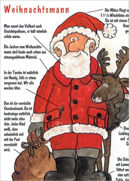 """Postkarte X-Mas """"Weihnachsmann"""""""