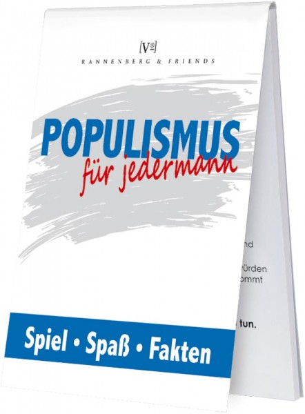 """Spieleblöckchen """" Populismus für jedermann"""""""