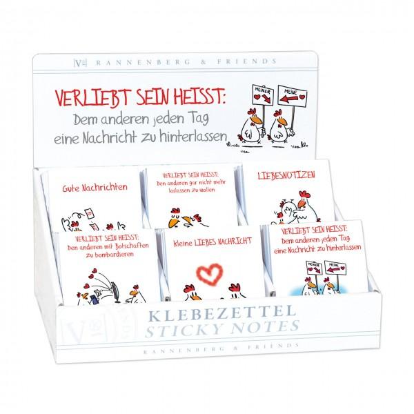 """Display """"Klebezettel"""" Verliebt sein 60 Stück sortiert"""