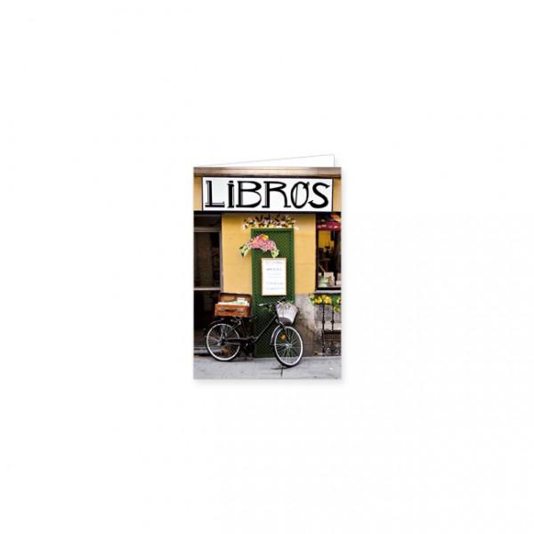 "Mini-Doppelkarte ""Libros"""