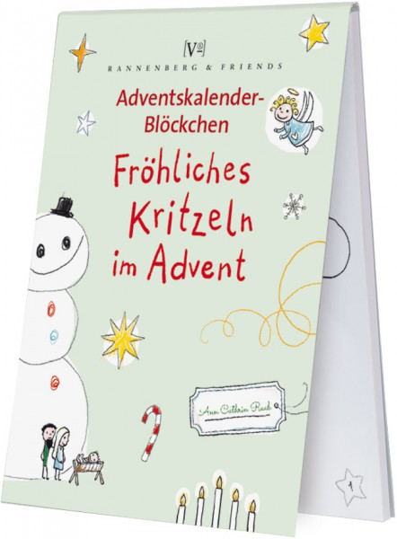 Adventskalenderblöckchen 'Fröhliches Kritzeln im Advent' Ann Cathrin Raab