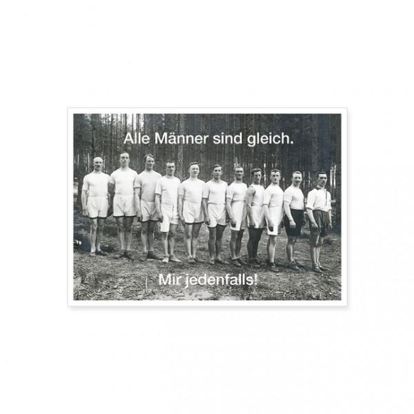 "Postkarte ""Alle Männer sind"""