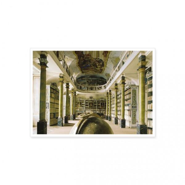 "Postkarte ""Bibliothek im Benediktingerkloster Braunau"""