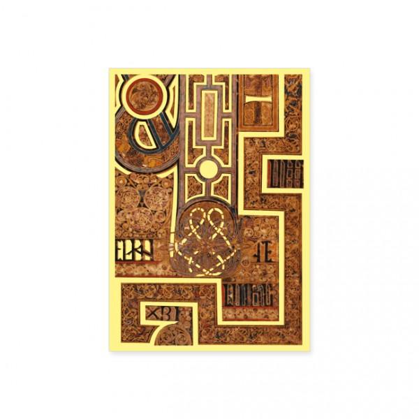 "Postkarte Gold ""Book of Kells"""