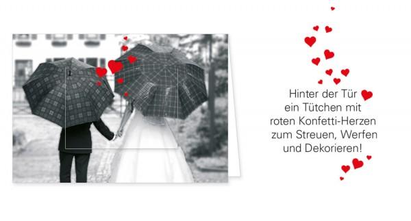 """Türchenkarte """"Unter dem Schirm der Liebe"""""""