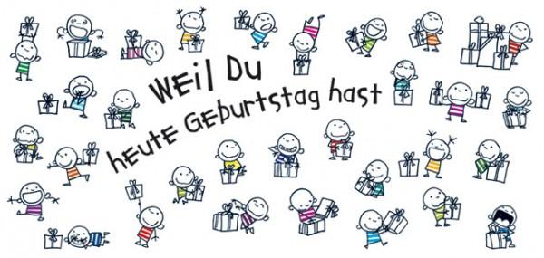 """XXL-Postkarte """"Weil du heute Geburtstag hast"""""""