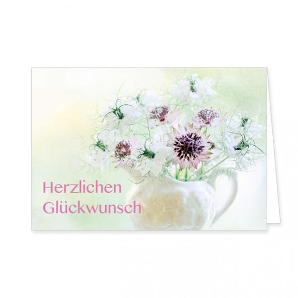 """Doppelkarten """"Herzlichen Glückwunsch mit Sterndolde"""""""