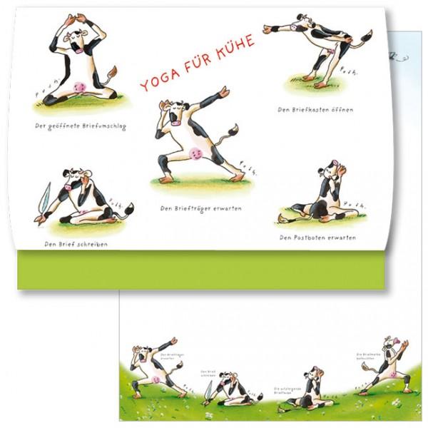 Schreib-Set 'Yoga für Kühe'