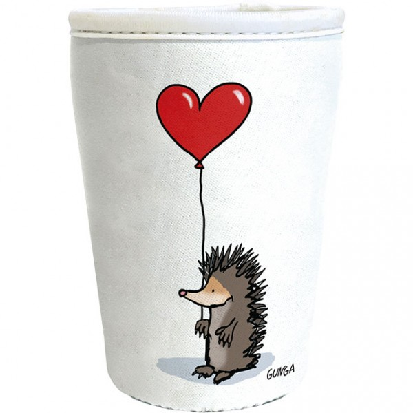 """Cup-Cover """"Igel mit Herz"""""""