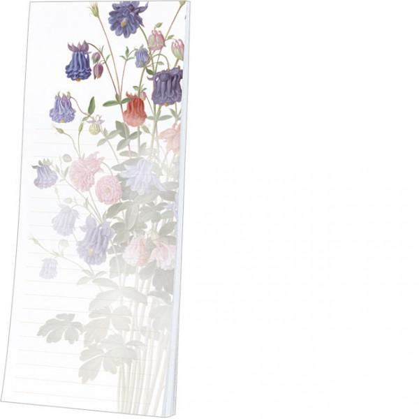 """Kühlschrankblöckchen """"Akelei aus dem Nassau Florilegium"""""""