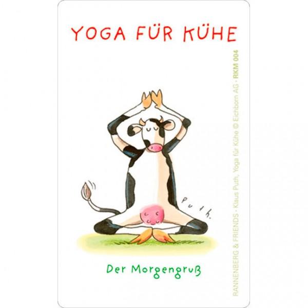 Magnete 'Yoga für Kühe - Der Morgengruß'
