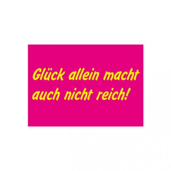 """Postkarte """"Glück allein . . ."""""""