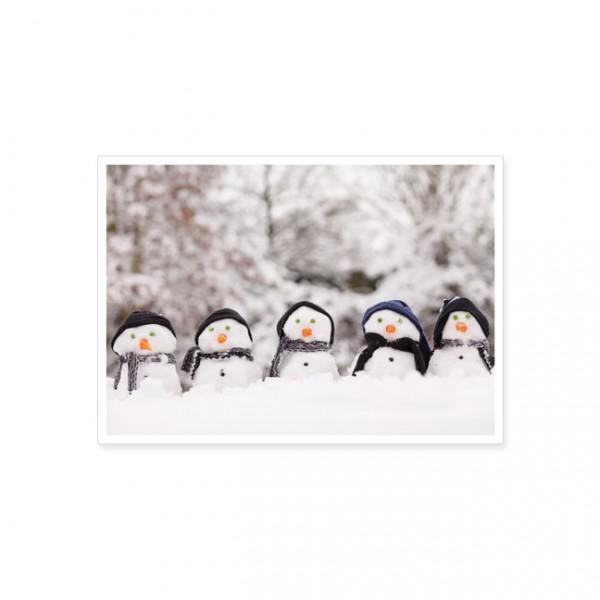 """Postkarte X-Mas """"Auf in den Schnee"""""""