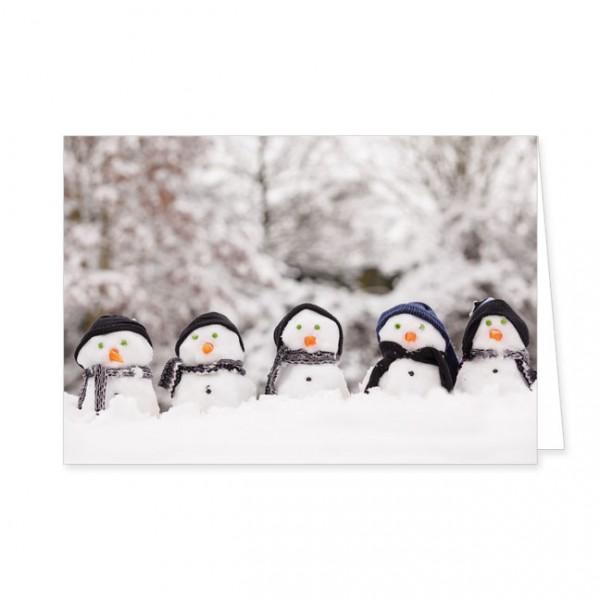 """Doppelkarten X-Mas """"Auf in den Schnee"""""""