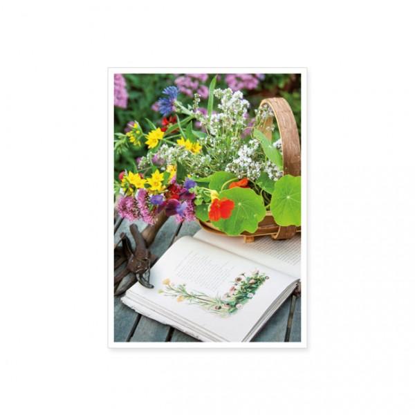 """Postkarte """"Aus dem Bauerngarten geholt"""""""