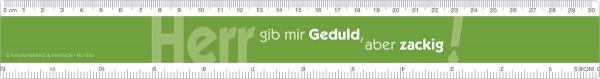 Lineal 'Herr gib mir Geduld'