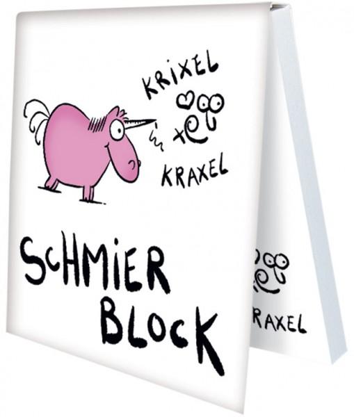 Klebezettel 'Schmierblock ' von Alexander Holzach